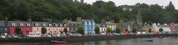 Tobermory (aka Balamory) in the Isle of Mull by tractor
