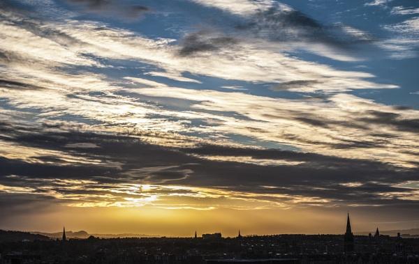 Edinburgh Sunset by allydon99