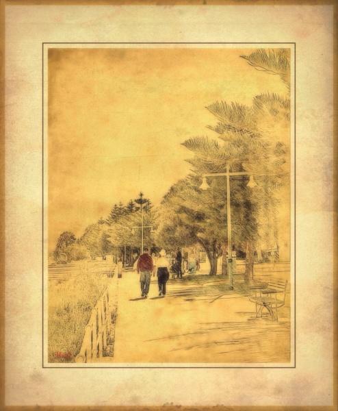 Sunday Walk Vintage by WesternRed