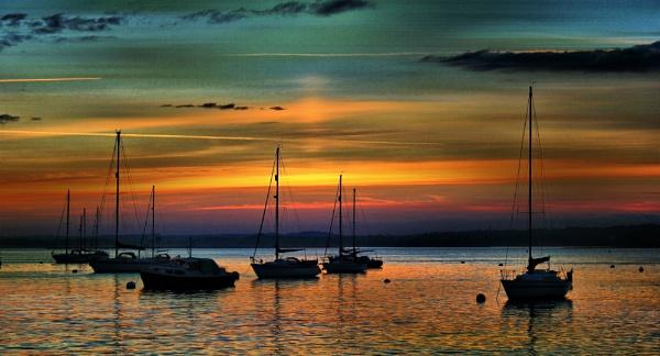 Lake Pier Sunset by sluggyboy