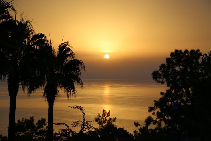 Sunrise over Amos