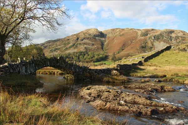 Slater\'s Bridge, Little Langdale. by CarolAnnLauderdale