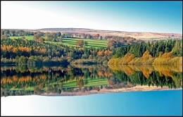 Broomhead Reservoir-Autumn reflections