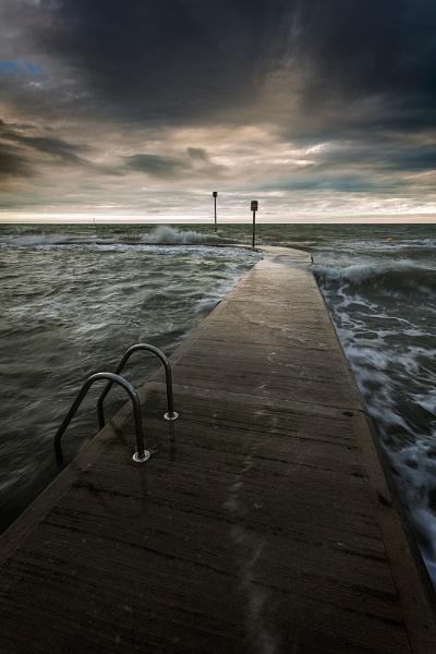 Margate Tidal Pool - Rain approahing. by derekhansen