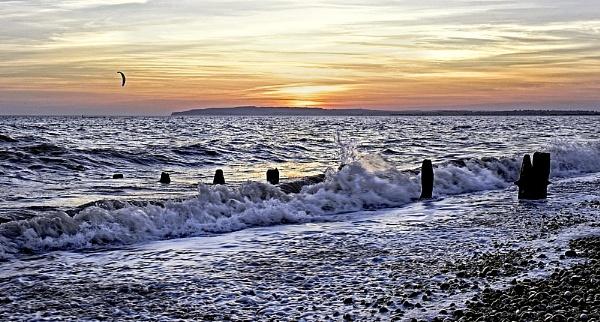 Sunset at Camber Sands by Jamesparkinuk