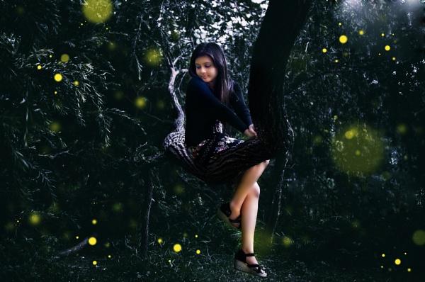 angel on the tree by sarasij