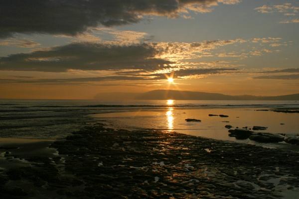 Sunset at Compton Bay Isle of Wight by Ian Pratt