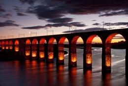 Royal Border Bridge Twilight