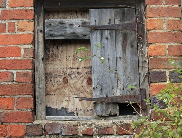 old farm window by debbiegee