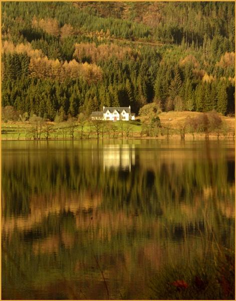 Evening at Loch Ard. by myrab