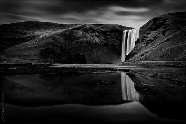 Skógafoss Reflected I by PhilNewberry