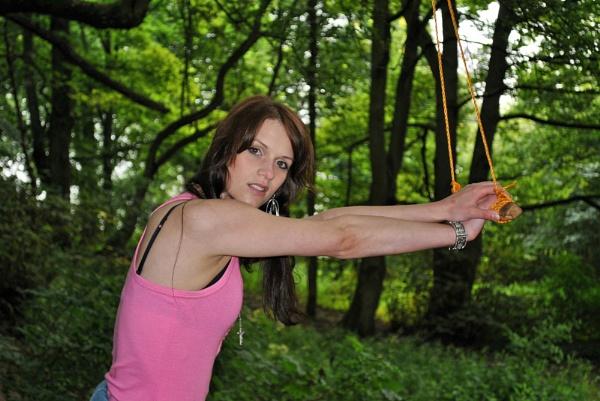 Swing girl. Badbury Woods, Faringdon. by ggdorrian