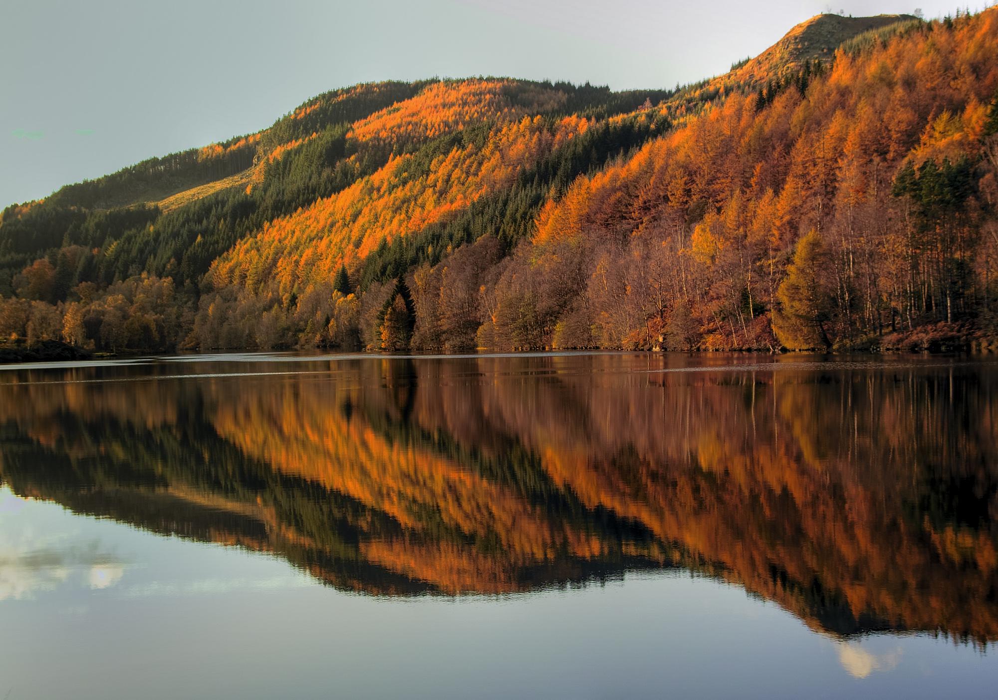 Loch Faskaly Reflection