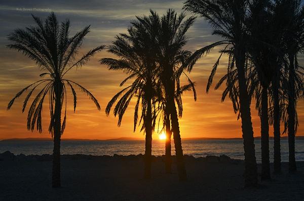 Sunset Artola Beach by fotocraft