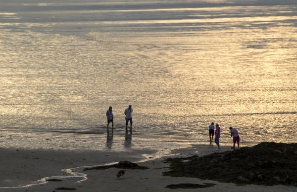 Evening on the Beach. by Irishkate