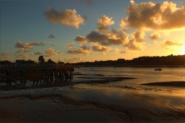 SUNSET OVER WALNEY CHANNEL by CarolAnnLauderdale