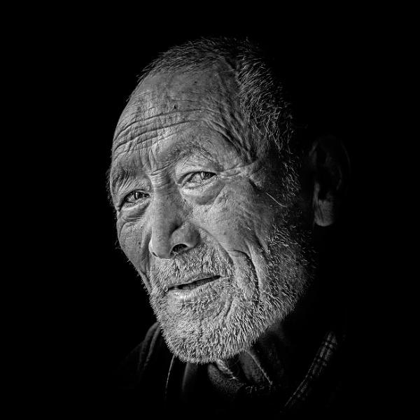 Old Man in Bhutan by Henchard