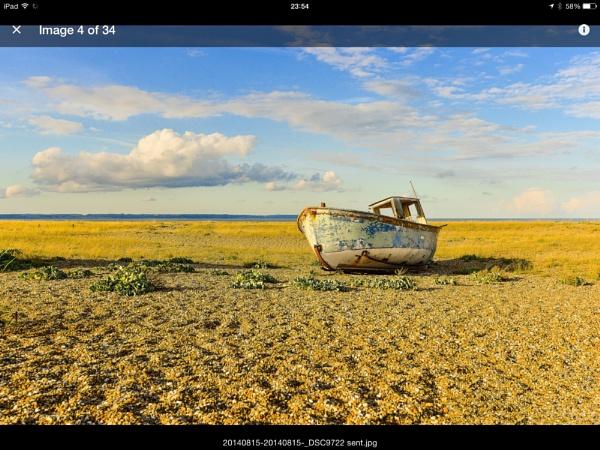 Blue boat by suemason