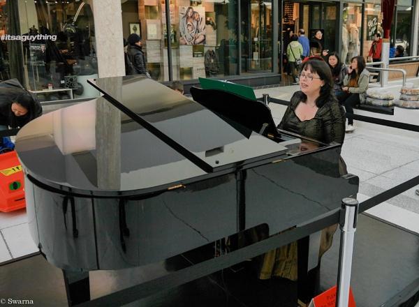 Piano lady... by Swarnadip