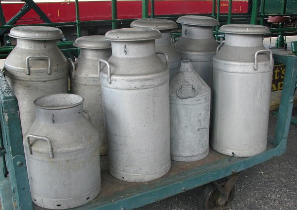 Milk Churns, Bluebell railway by scallywag