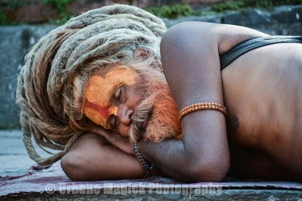 sleeping Sadhu,  Patsuninapath,  Nepal. by UrbaneMagick