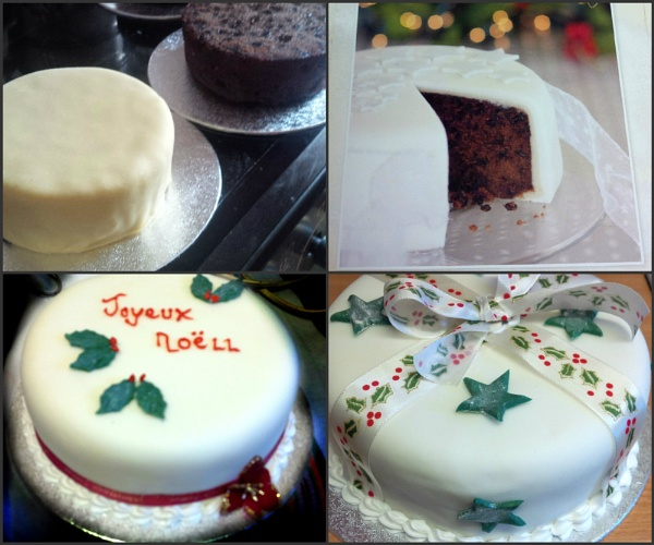 Collage of Christmas cakes. by pentaxpatty