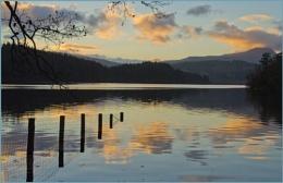 Dusk at Loch Ard.