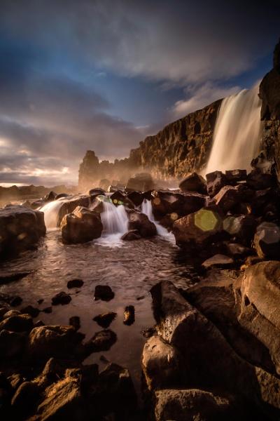 Öxarárfoss, Þingvellir National Park, Iceland by BobShaw