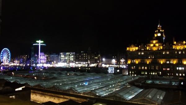 Winter lights in Edinburgh
