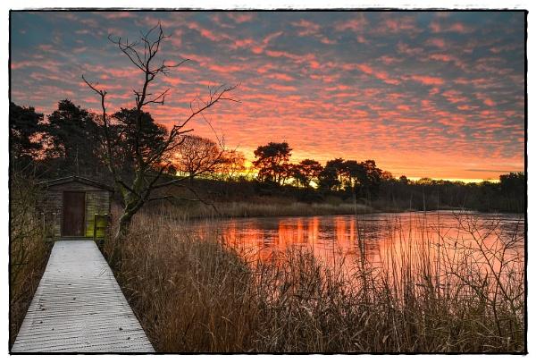 Sunrise at Lound Lakes by jonkennard