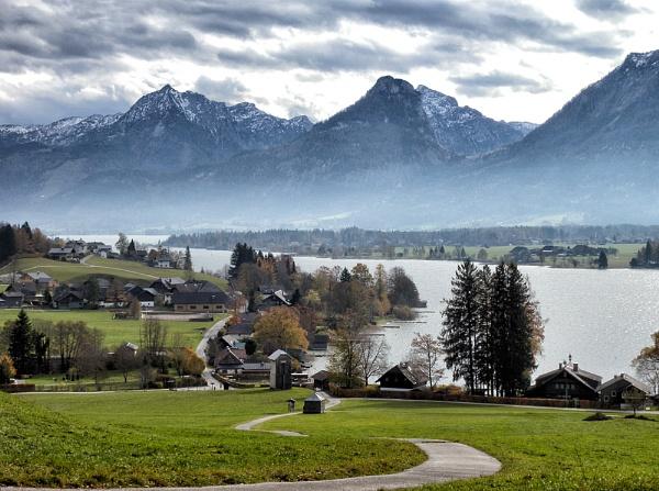 Autumn Alpine Morning by headskiesfly