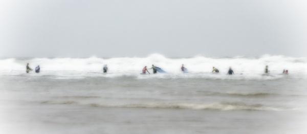 Winter Surfers by Hoffy