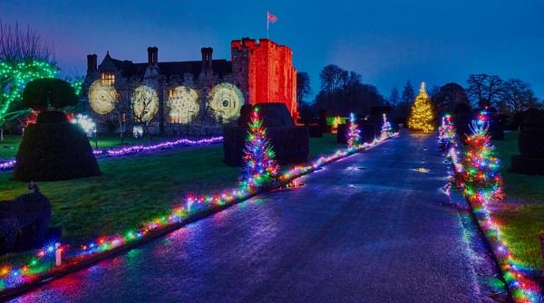 Christmas Lights - Hever Castle 2014 by JJGEE