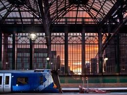 Sunset Through Central Window