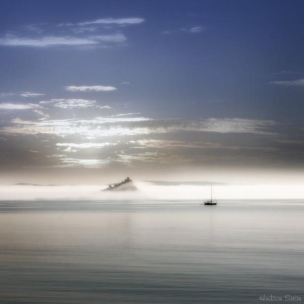 Sea Fog over St Michaels Mount by sunsetskydancer