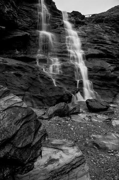 Waterfall : Tintagel by rickhanson