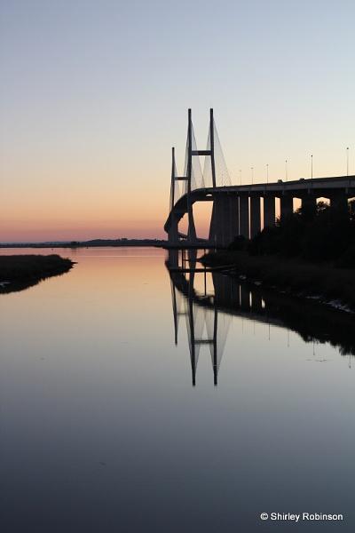 Sidney Lanier Bridge in sunset by shirleyjrobinson