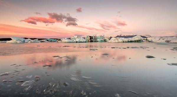 Glacier Lake Jokulsarlon dawn light by Richsr