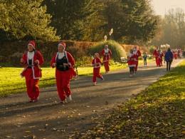 Santa's in the park.
