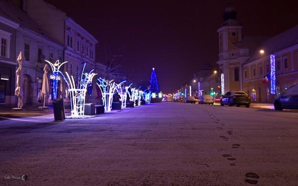 night walk on Cluj Napoca streets by calinutz78