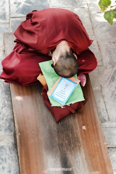 In Prayer . Buddhist Monk, Nepal. by UrbaneMagick