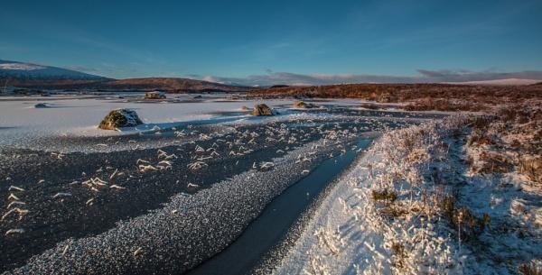 Frozen Rannoch Moor by CameronCamera