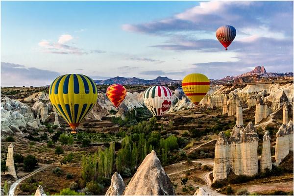 Balloons in Cappadocia by Norma