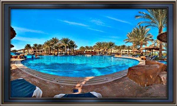 Pond shape pool at Sharm El Sheikh by pphotographi