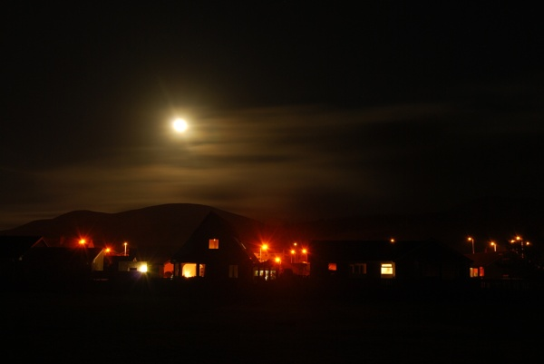 Moonlight over Girvan by SHADY65