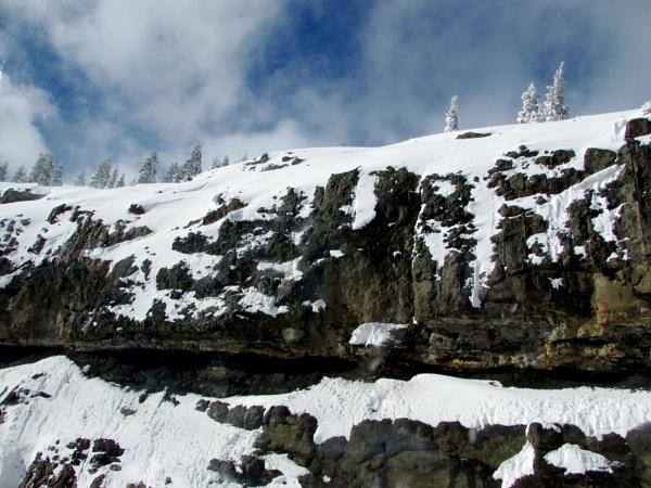 Snowy Cliff by alexisdifruscia