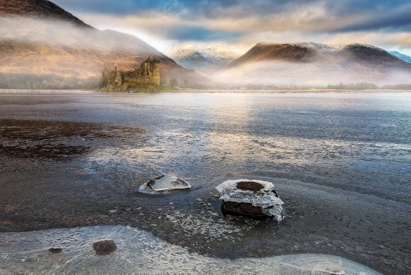 Kilchurn through the mist by douglasR