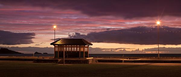 Seaside shelter at sunrise... by steve_eb