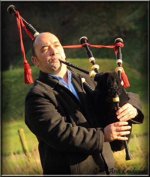 The Piper at the Abbey by CarolAnnLauderdale