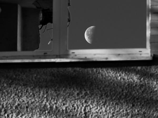 Moon in window by mkulle